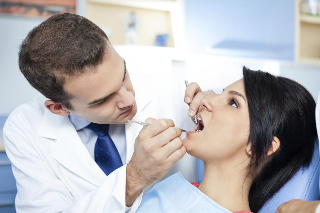 dentist and   patient